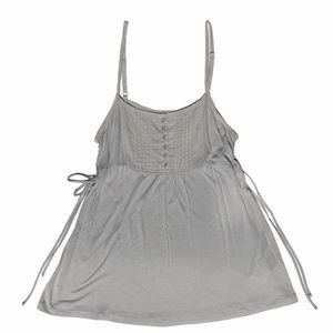 3/$20 POWDER ROOM Babydoll Tank Top with Side Ties MD